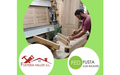 Elementos de carpintería macizos en roble, robustez y sostenibilidad, valores que perduran con nuestro socio Fusteria Vallop